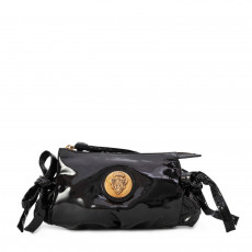 Gucci Black Patent Leather Hysteria Clutch Bag 01