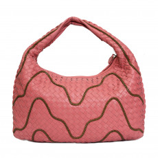 Bottega Veneta Woven Nappa Leather Chain Hobo-01