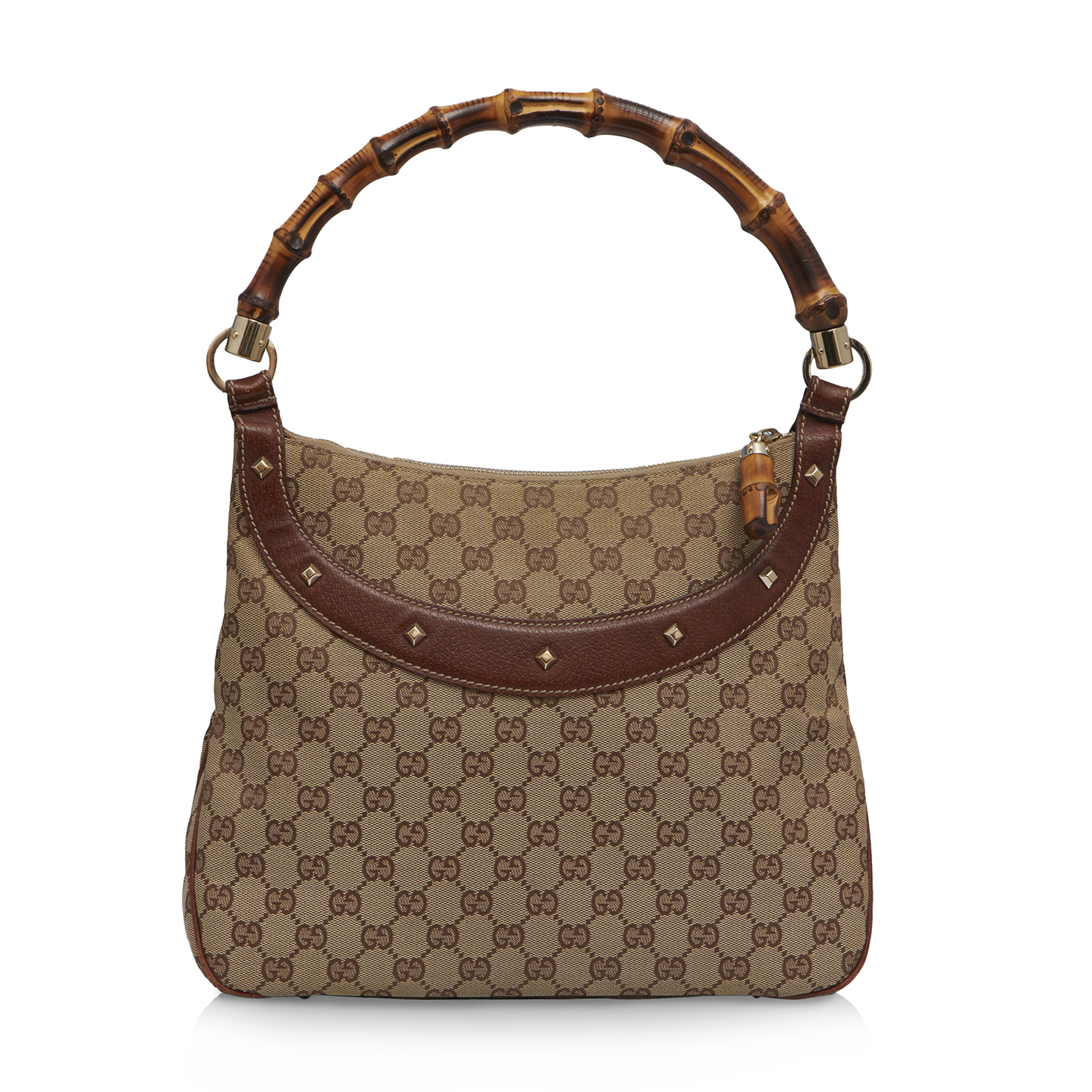 Gucci Monogram Anita Bamboo Top Handle Bag 07