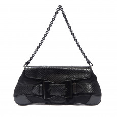 Gucci Satin and Python Queen Bow Clutch 03