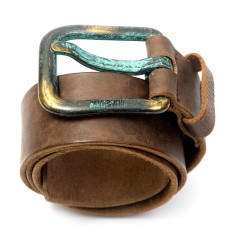 Just Cavalli Brown Leather Belt