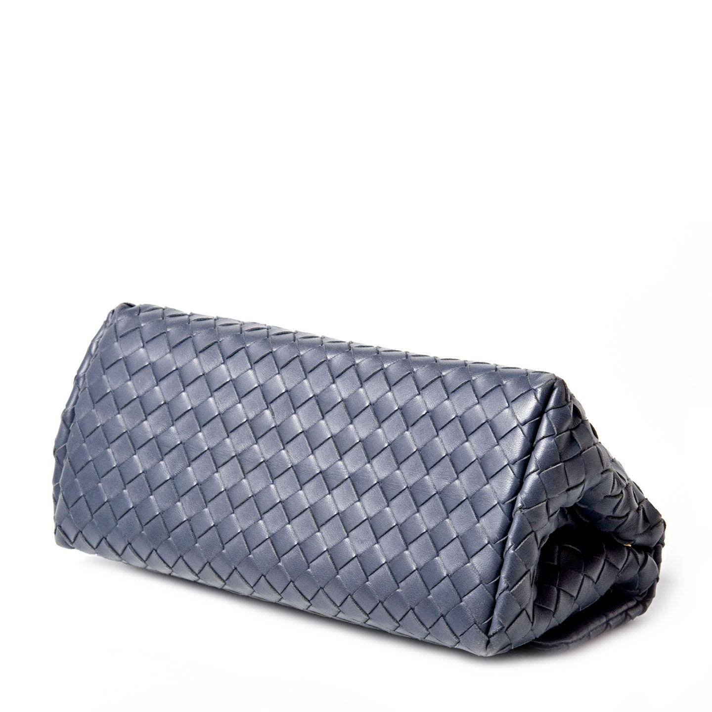 bottega veneta intrecciato woven nappa leather clutch labelcentric. Black Bedroom Furniture Sets. Home Design Ideas