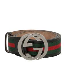 145e940a2 048. Gucci. Gucci Web Belt With Interlocking G. ₹ 11,500. Retail Price: ...