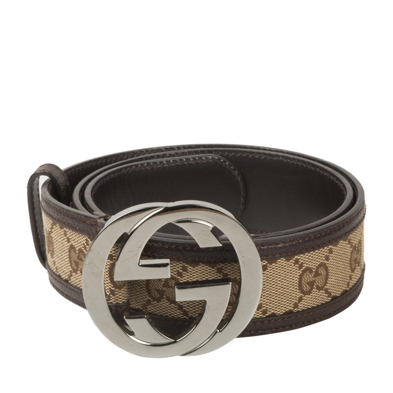 Gucci Unisex Original GG belt with interlocking G ...