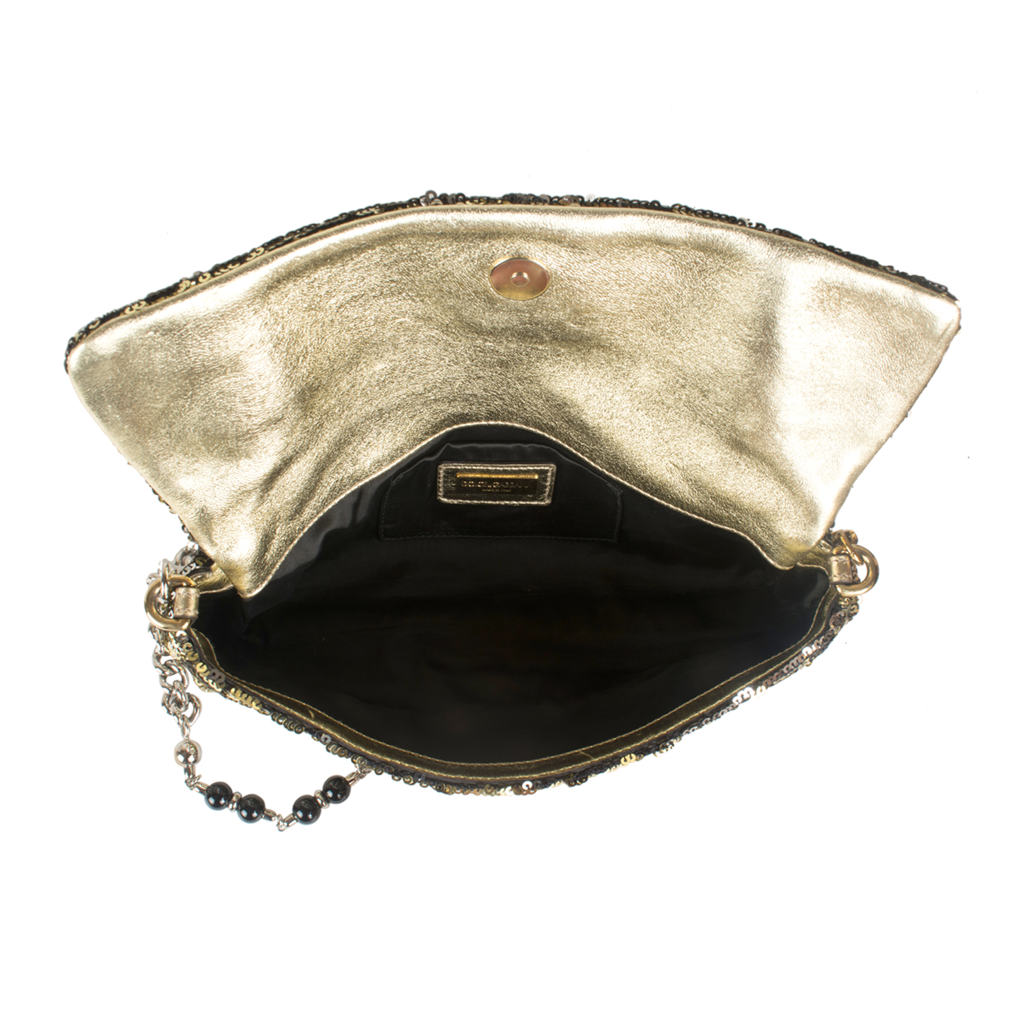 b2567d83d7 Dolce   Gabbana  Miss Charles  Sequined Evening Bag - LabelCentric