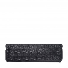 Herve Leger Quilted Leather Fold Over Clutch 01