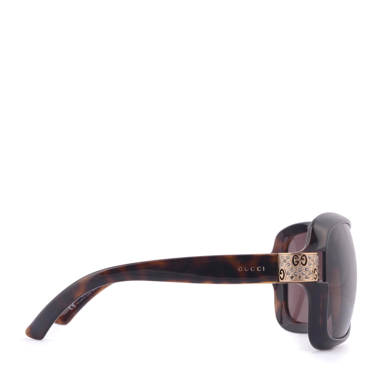 f406e0d05e0 Gucci Havana Brown Crystal GG Sunglasses 2985 S - LabelCentric