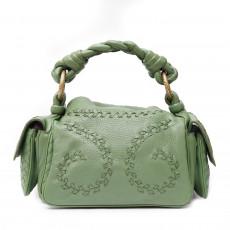 Bottega Veneta Green Deerskin Cervo Leather Crocker Bag 01