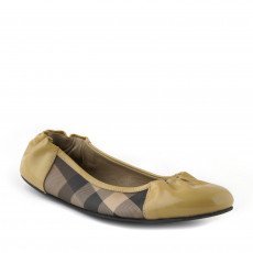 Burberry Cap Toe House Check Ballet 01