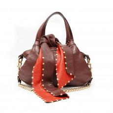 Marc Jacobs Brandy Lambskin Tie Blondie Bag 05