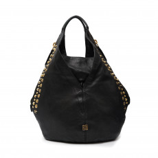 Givenchy Lambskin Studded Tinhan Hobo Black Bag 01