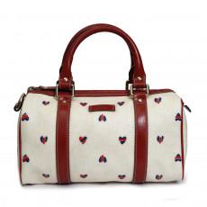 White Hearts GG Coated Canvas Mini Joy Boston Bag 01