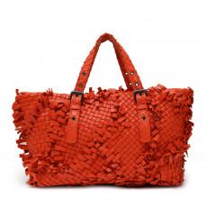 Bottega Veneta Intrecciato Fringe Shoulder Bag 01