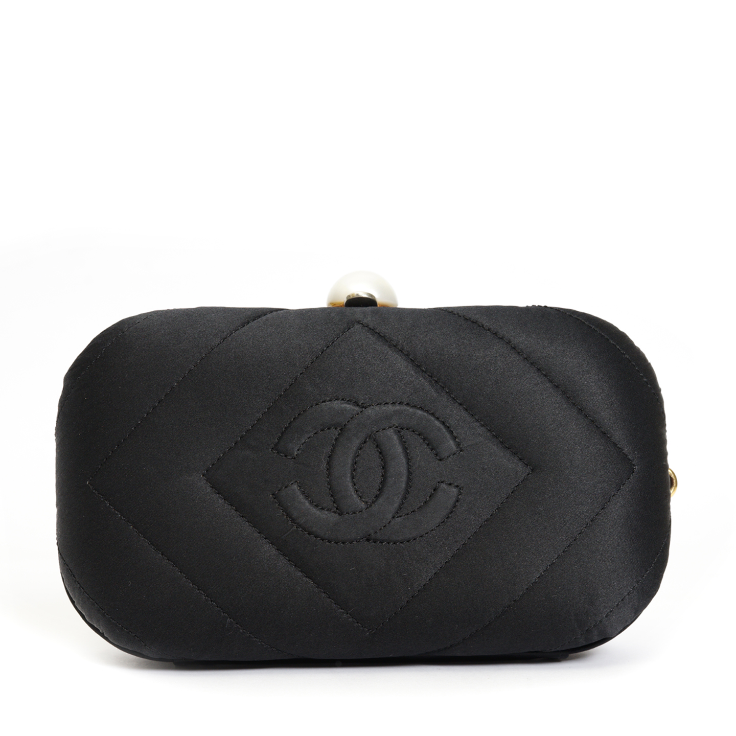 Chanel Black Vintage Clutch 04
