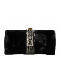 Yves Saint Laurent Black Embelished Clutch 01