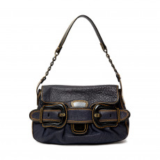 Fendi Black Leather B Bis Shoulder Bag 01