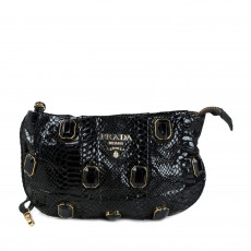 Prada Black Tessuto Pietre Jeweled Wristlet 01