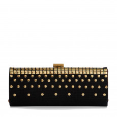 Jimmy Choo Black Jute Tube Clutch 02