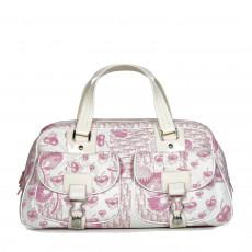 Christian Dior Pink Flower Polochon Handbag 01