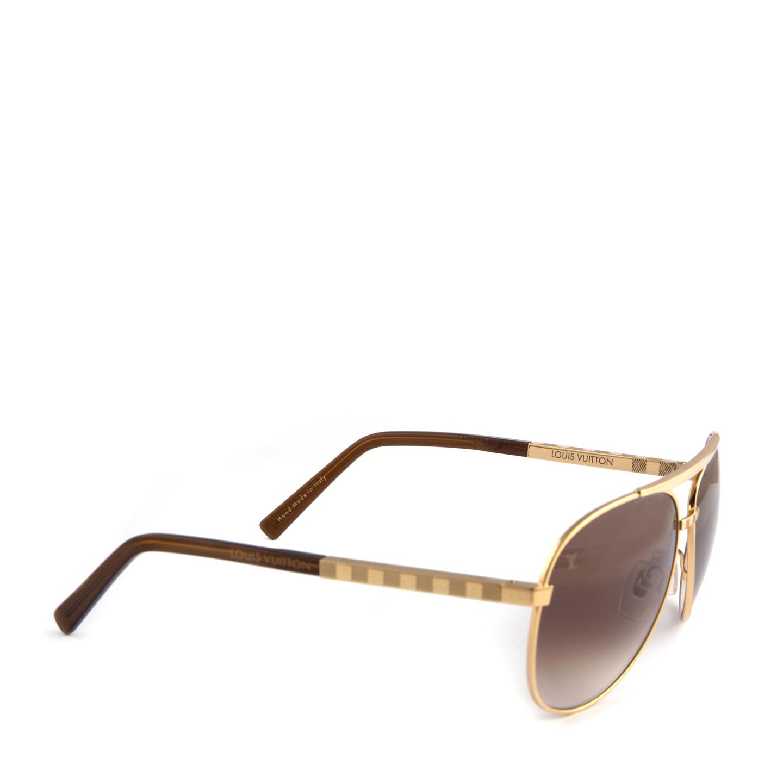205779c44080 Louis Vuitton Attitude Pilote Sunglasses Z0339U Gold - LabelCentric