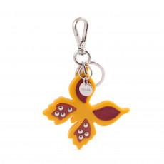 Prada Yellow Butterfly Keychain 01