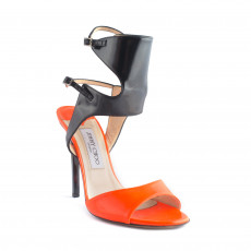 Jimmy Choo Orange Loop Patent-leather Sandals 01