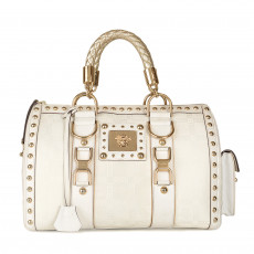 Versace Jacquard 'Snap Out Of It' Satchel Handbag 01