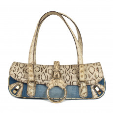 Dolce & Gabbana Denim and Snakeskin Shoulder Bag 02