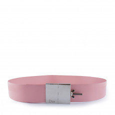 Dior Pink Leather Belt