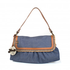 Fendi Blue Denim Chef Shoulder Flap Bag 01