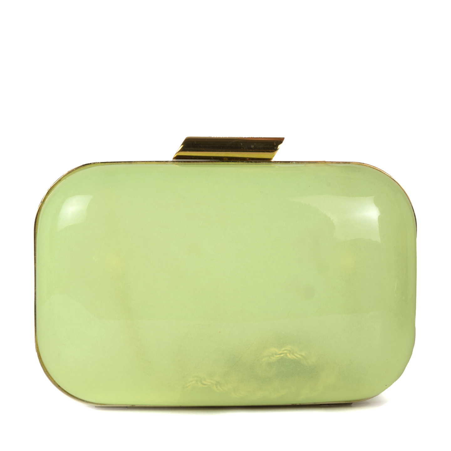 Jimmy Choo Fluorescent Green Acrylic Clutch 01