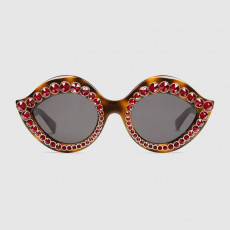 Gucci Cat Eye Sunglasses With Crystals