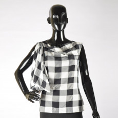 Vivienne Westwood Black & White Asymetrical Top-2