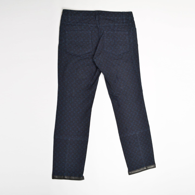 Louis Vuitton Blue Monogram Denim Pants Labelcentric
