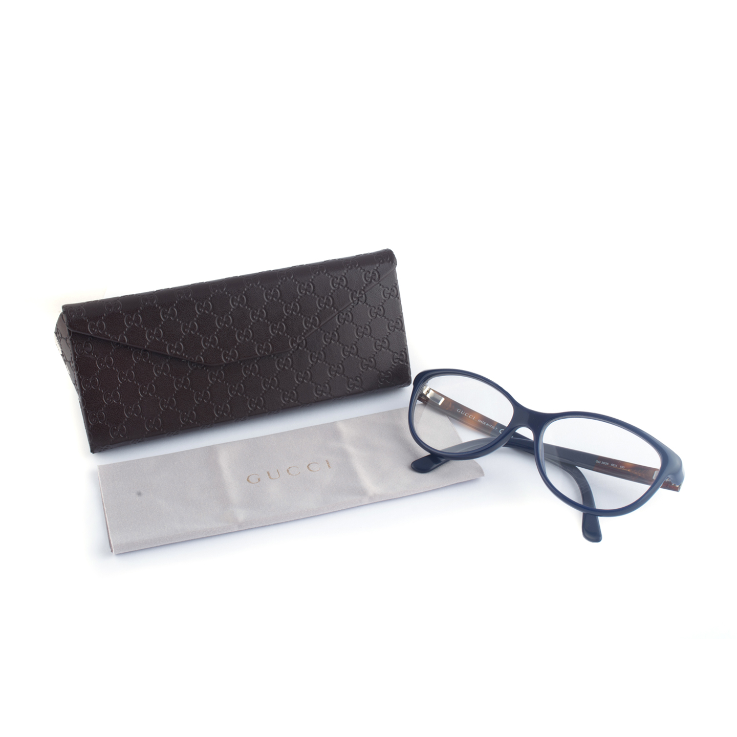 gucci gg 3626 blue reading glasses labelcentric