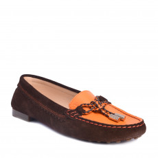 Tod's Suede & Leather Bow Flats Size 37.5