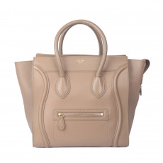 Celine Taupe Mini Luggage Tote 01