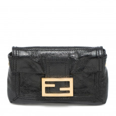 Fendi Black Patent Leather Small Clutch 01