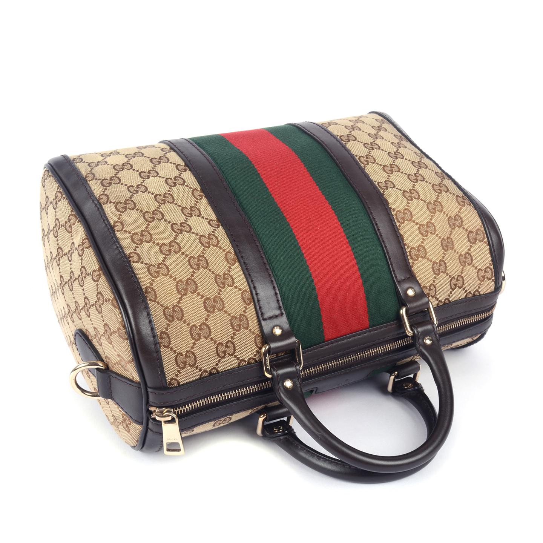 e995a60eea11 Gucci Vintage Web Original GG Boston Bag - LabelCentric