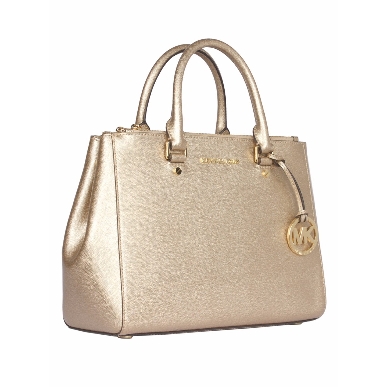 415303ebd ... best price michael kors sutton gold satchel 2 6eafe b48d3 ...