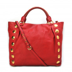 Miu Miu Red Leather Studded Tote 10