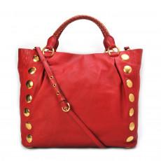 Miu Miu Red Leather Studded Tote 10