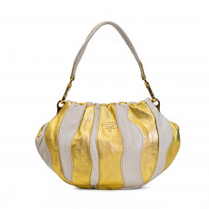Prada Nappa Stripes Shoulder Bag Cera Oro 01