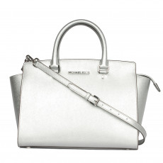Michael Kors Selma Metallic Messenger Bag