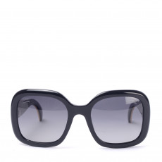 Chanel Black Polarised Sunglasses with stingray temples001