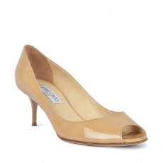 Jimmy Choo Evelyn Patent Peep Toe Pumps Size 38-1
