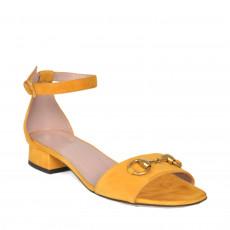 Gucci Horsebit Flat Suede Sandal Size 37