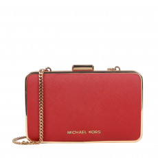Michael Kors Saffiano Leather Elsie Box Clutch 01