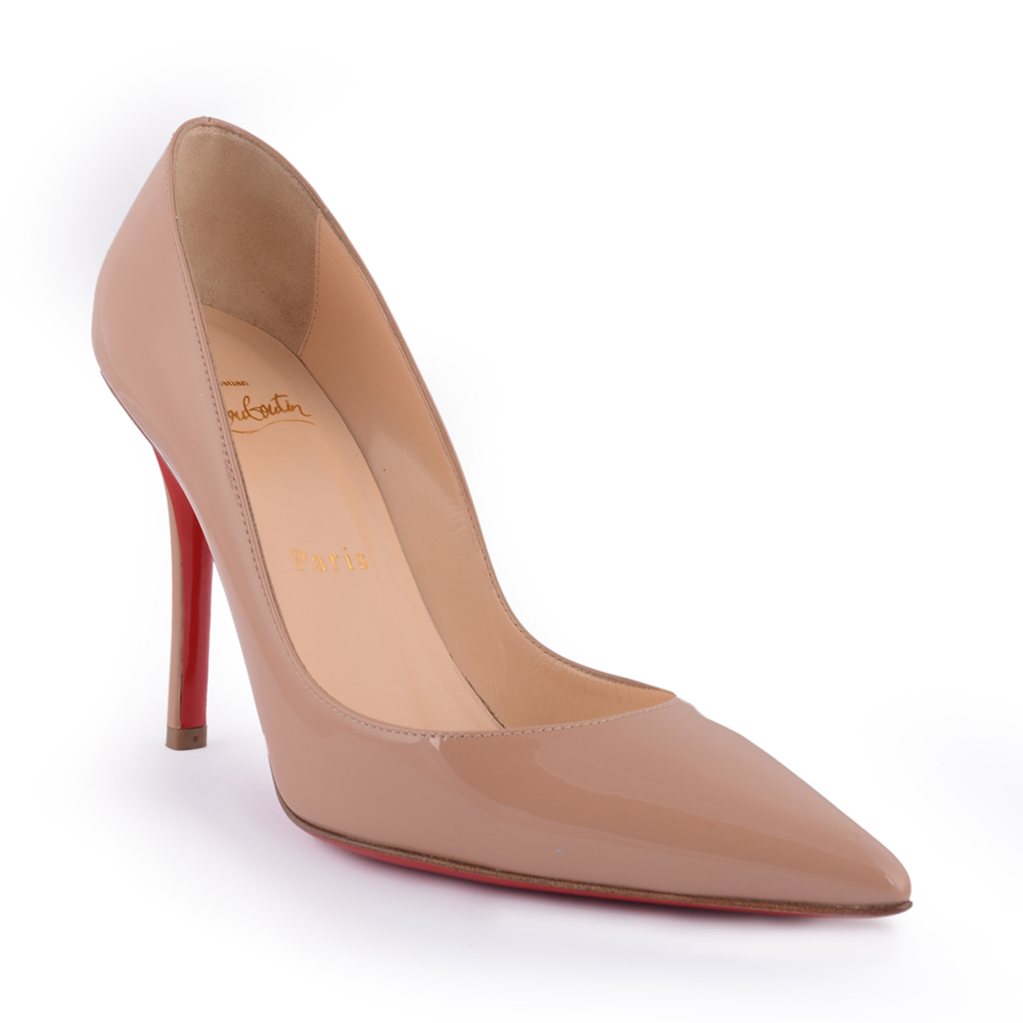 1656d1a025db Christian Louboutin Apostrophy Nude Pumps 100 mm Size 36 ...