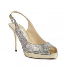 Jimmy Choo Nova Glittered Platform Slingback Sandals-1